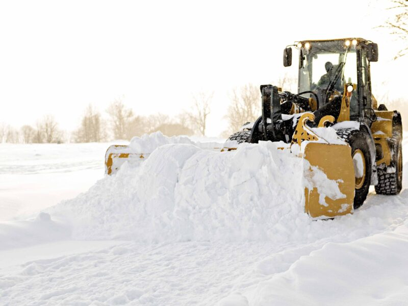 Ice Watch Tractor clearing snow